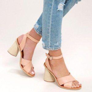 Dolce Vita Athena Caramel chunky heels TAN 9 NEW